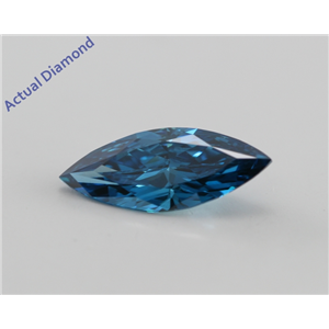 Marquise Cut Loose Diamond (0.71 Ct, Fancy Intense Ocean Blue (Color Irradiated), VS2(Clarity Enhanced)) IGL Certified