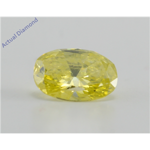 Oval Cut Loose Diamond (0.99 Ct, Fancy Intense Yellow(Irradiated) Color, VS2(Clarity Enhanced) Clarity) IGL
