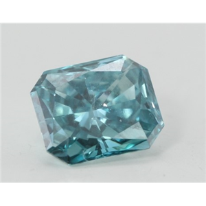Radiant Loose Diamond (0.9 Ct, Fancy Vivid Blue(Irradiated) Color, VVS2(Clarity Enhanced) Clarity) IGL