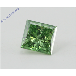 Princess Loose Diamond (0.77 Ct, Olive Green(Irradiated) Color, SI2(Clarity Enhanced) Clarity) IGL Certified