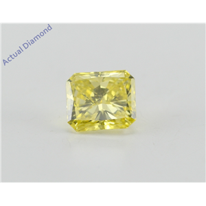 Radiant Cut Loose Diamond (0.82 Ct, Canary Yellow(Irradiated), ) Color, VS2 Clarity) IGL Certified
