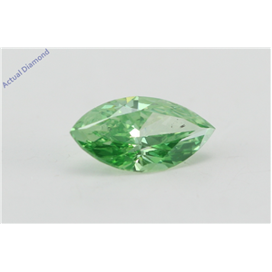 Marquise Cut Loose Diamond (0.71 Ct, Olive Green(Irradiated)) Color, SI1 Clarity) IGL Certified