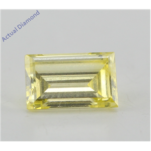Baguette Loose Diamond (0.77 Ct, Yellow(Irradiated)) Color, VVS2(Clarity Enhanced) Clarity) IGL Certified