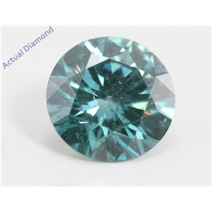 Round Loose Diamond (1.33 Ct, Fancy Intence Blue(Irradiated) Color, Si1(clarity Enhanced) Clarity) IGL