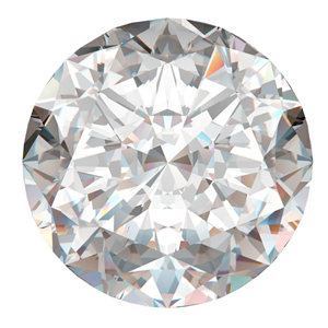Round Cut Loose Diamond (0.96 Ct, F Color ,I2(CLARITY ENHANCED) Clarity)