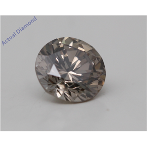 Round Cut Loose Diamond (0.25 Ct, Natural Fancy Dark Brown Color, SI2 Clarity) GIA Certified