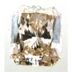 Radiant Cut Loose Diamond (0.79 Ct, NICE BROWN Color ,VS Clarity)