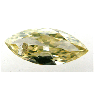 Marquise Cut Loose Diamond (0.36 Ct, NATURAL FANCY YELLOW Color ,I2+ Clarity)