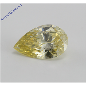 Pear Cut Loose Diamond (1.14 Ct, Yellow(HPHT Color Treated), VVS2)