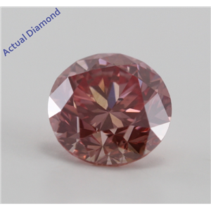 Round Cut Loose Diamond (1.02 Ct, Pinkish Purple (HPHT Color Treated), SI2)