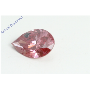 Pear Cut Loose Diamond (0.74 Ct, Fancy Pinkish Purple(HPHT Color Treated) Color, I1 Clarity) IGL Certified