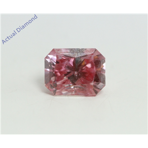 Radiant Cut Loose Diamond (0.72 Ct, Fancy Pinkish Purple(HPHT Color Treated) Color, VVS2 Clarity) IGL Certified