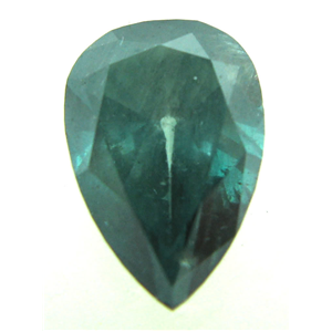 Pear Cut Loose Diamond (1.66 Ct, GREEN(COLOR IRRADIATED)  Color ,I1 Clarity)