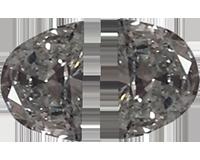 Loose 0.46 Carat Half Moon Diamonds, G Color, VS1 Clarity