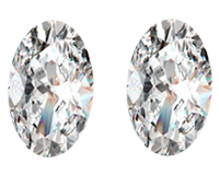 Lovely Pair of 0.83ct Loose Oval Diamonds, VVS1 Clarity, J Color