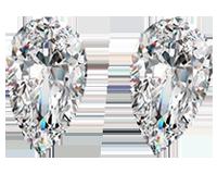 Unique Pair of 1.05ct Loose Pear Cut Diamonds, SI2 Clarity, J Color