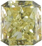 Lovely Natural Fancy Color Yellow Diamond, 1.5 Carat, Radiant Cut, VS1 Clarity