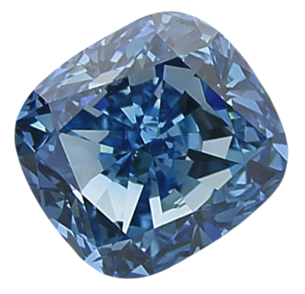Cushion Cut Heaven Blue 1ct Irradiated SI Diamond