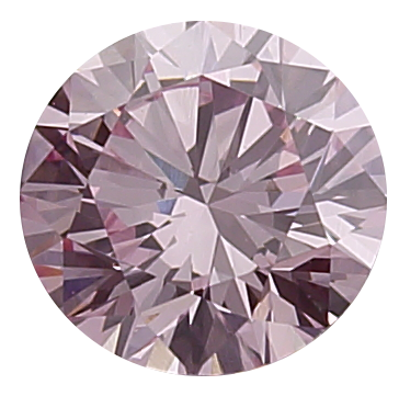 Round Cut Pink Diamond, 1.05ct, HPHT Treated, VVS