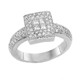 Collection of Invisible and Cocktail Setting White Gold Diamond Engagement Rings