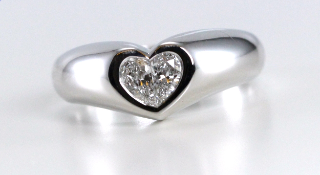 Every natural mined diamond such as this 18k White Gold Bezel Setting Heart Shaped Pear Cut Diamond Engagement Ring is ancient.