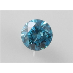 Round Cut Loose Diamond (1.28 Ct, Nice Blue(Color Irradiated) ,I1(Clarity Enhanced))style=