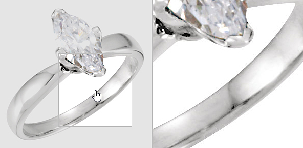 White Marquise Diamond Solitaire Setting Engagement Ring 14k white gold, 1.03 Ct, Color H , Clarity I1, 100% natural diamond