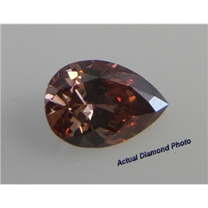 Pear Cut Loose Diamond (0.62 Ct, Fancy Deep Purple Pink(Hpht Color Treated) ,SI2)