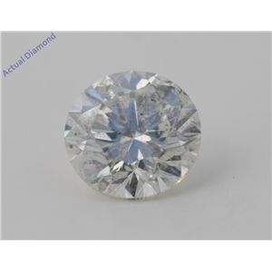 Round Cut Loose Diamond (4.14 Ct, I Color, SI2(Clarity Enhanced&laser Drilled) Clarity) EGL Certified