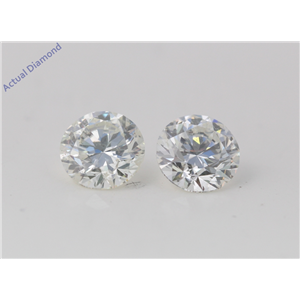 A Pair of Round Cut Loose Diamonds (4.01 Ct, H Color, SI1 Clarity)