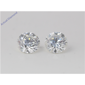 A Pair of Round Cut Loose Diamonds (4.18 Ct, H Color, SI1 Clarity)