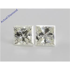 A Pair of Princess Cut Loose Diamonds (1.83 Ct, K ,VS2) IGL Certified