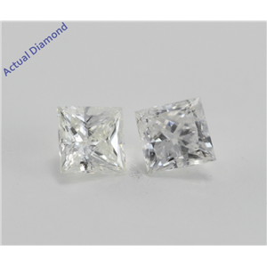A Pair of Princess Cut Loose Diamonds (0.56 Ct, H-I ,I1-I2)