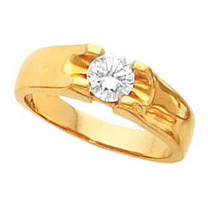 Round Diamond Solitaire Engagement Ring 14k  ( 1 Ct, F-G Color, VS Clarity GIA Certified)
