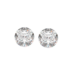 A Pair of Round Cut Loose Diamonds (2.08 Ct, K ,SI3(ClarIty Enhanced))