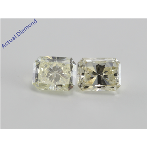 A Pair of Radiant Cut Loose Diamonds (1.21 Ct, K ,SI)