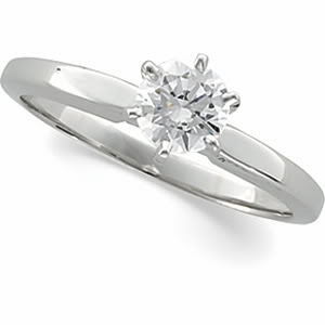 Round Diamond Solitaire Engagement Ring 14k 0.31 Ct, F , I1
