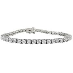18k White Gold Round Cut Diamond Tennis Bracelet (1.12 Ct., G Color, SI1 Clarity)