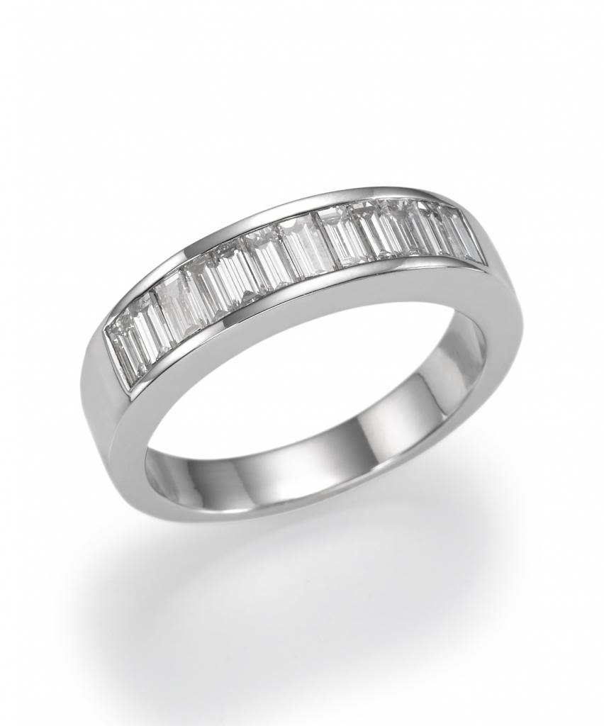 18k White Gold Channel Setting Baguette Cut Diamond Wedding Band 1 05 Ct G Color Vs1 Clarity