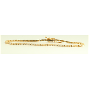 18k rose-gold Fashionable and stylish tennis bracelet (1.1 Ct G ,VS)