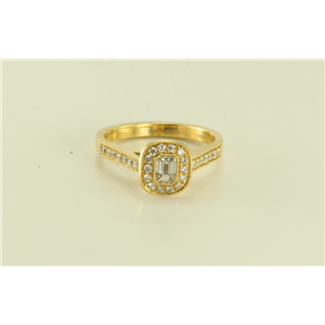 18k yellow gold Extremely chic classic antique style engagement ring (0.77 Ct G & G ,VS)