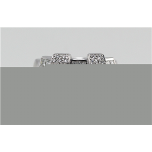 18k White Gold Round & princess cut diamond half eternity style exclusive wedding ring (1.17 Ct G & G ,VS)