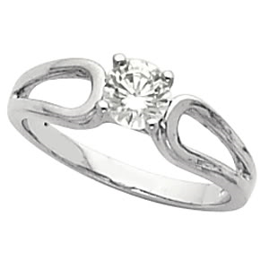 Round Diamond Solitaire Engagement Ring 14k  ( 1.01 Ct, F Color, SI3(K.M+LASER-DRILLED) Clarity IGL Certified)