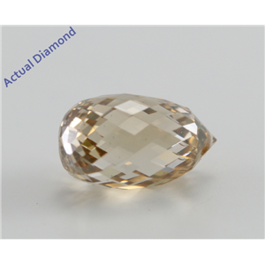 Briolette Cut Loose Diamond (3 Ct, Natural Fancy Brown Yellow, SI2) GIA Certified