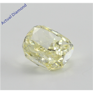 Cushion Cut Loose Diamond (0.59 Ct, Natural Fancy Yellow, VS1) GIA Certified