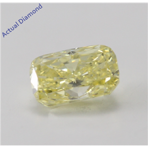 Cushion Cut Loose Diamond (0.55 Ct, Natural Fancy Intense Yellow, VS2) GIA Certified