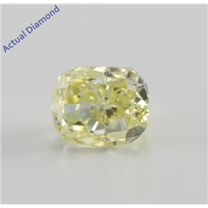 Cushion Cut Loose Diamond (0.52 Ct, Natural Fancy Yellow, VS2) GIA Certified
