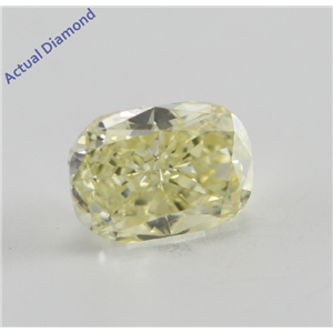 Cushion Cut Loose Diamond (0.48 Ct, Natural Fancy Yellow, VS2) GIA Certified