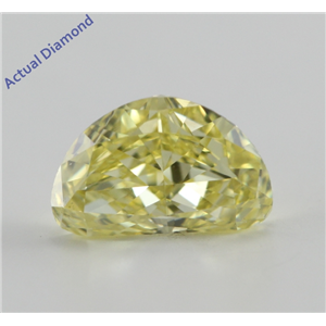 Half Moon Cut Loose Diamond (1.01 Ct, Natural Fancy Intense Yellow, SI1) GIA Certified