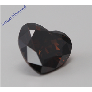 Heart Cut Loose Diamond (1.59 Ct, Natural Fancy Dark Orangy Brown, SI1) GIA Certified